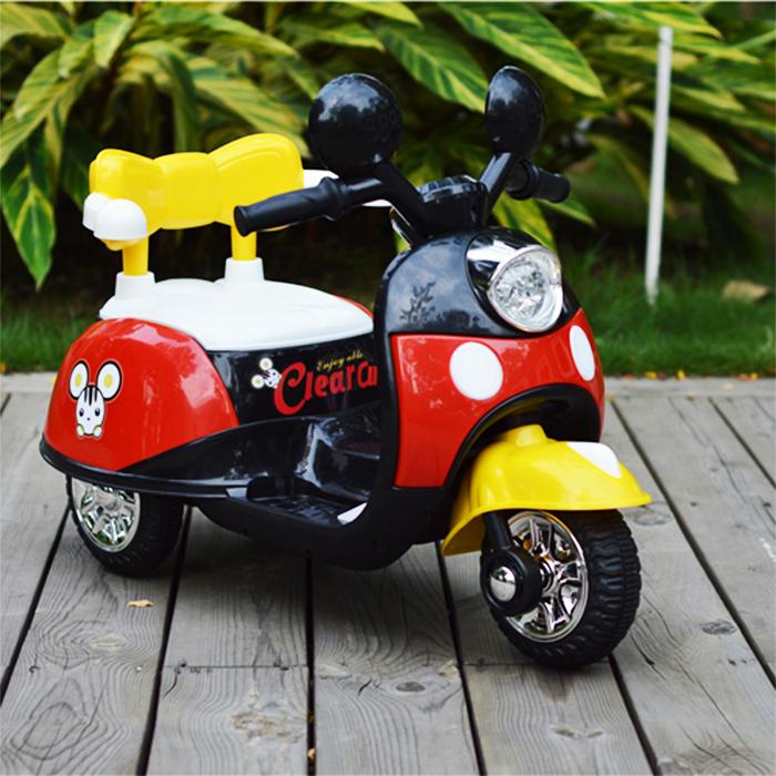 รถแบตเตอรี่เด็กนั่ง มิกกี้ Mickey Clear Cut รุ่นใหม่ มีพนักพิง