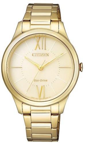 นาฬิกาข้อมือผู้หญิง Citizen Eco-Drive รุ่น EM0412-52P, Elegant Watch