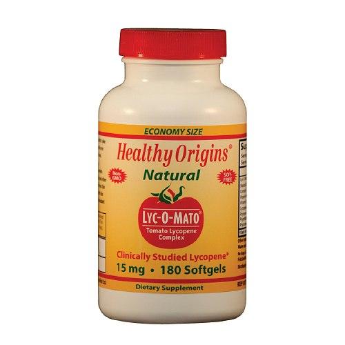 Healthy Origins Lyc-O-Mato Lycopene Complex, 15 mg, Softgel Capsules 180