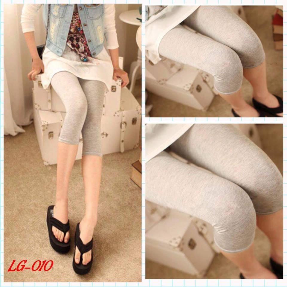 เลคกิ้งคนท้อง ขา4ส่วน สีเทาอ่อน M,L,XL