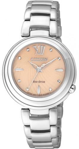 นาฬิกาข้อมือผู้หญิง Citizen Eco-Drive รุ่น EM0331-52W, Sapphire Elegant