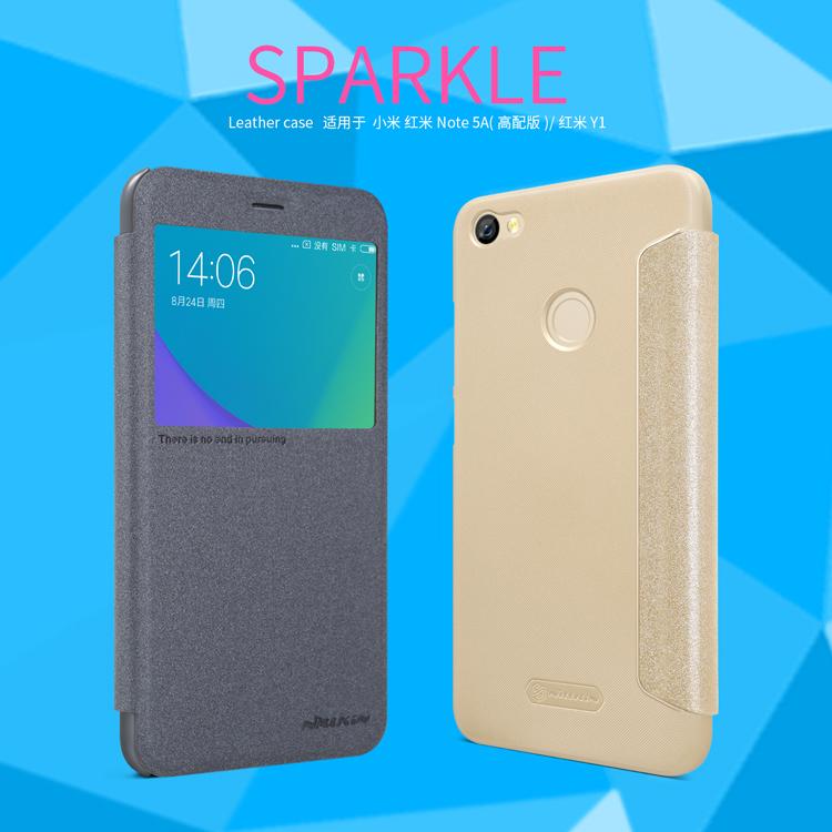 เคส Xiaomi Redmi Note 5A Prime (Redmi Y1) Nillkin Sparkle Leather Case