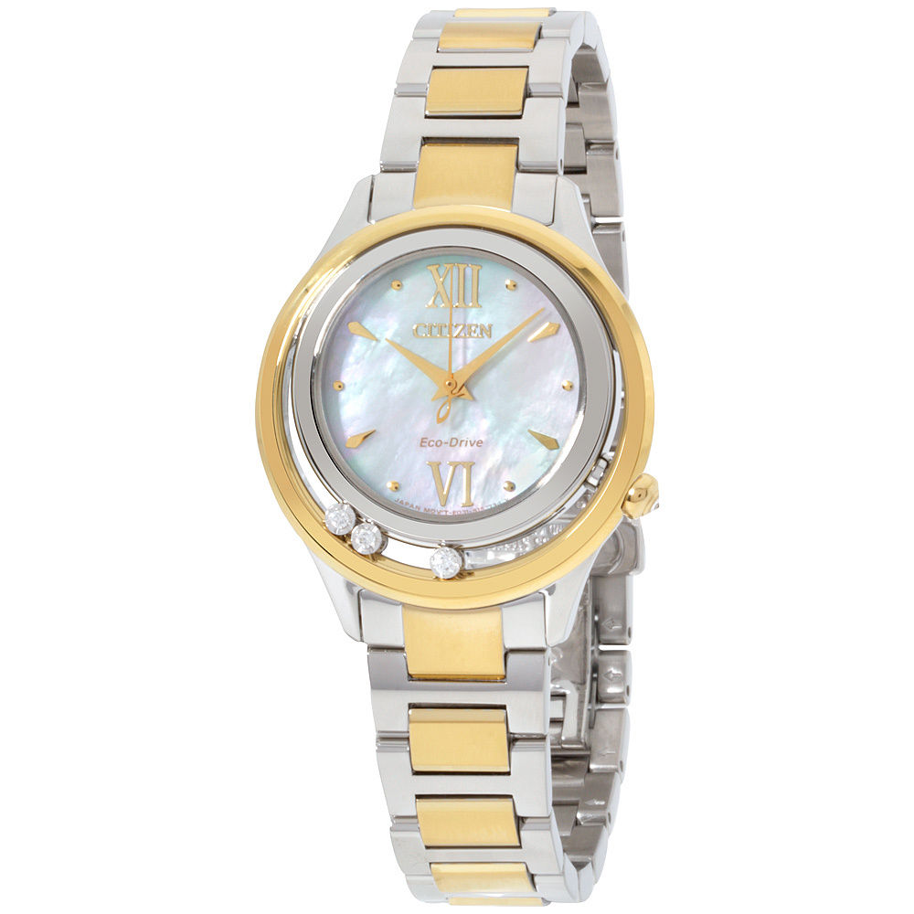 นาฬิกาผู้หญิง Citizen Eco-Drive รุ่น EM0514-52D, L Sunrise LS Mother of pearl Dial