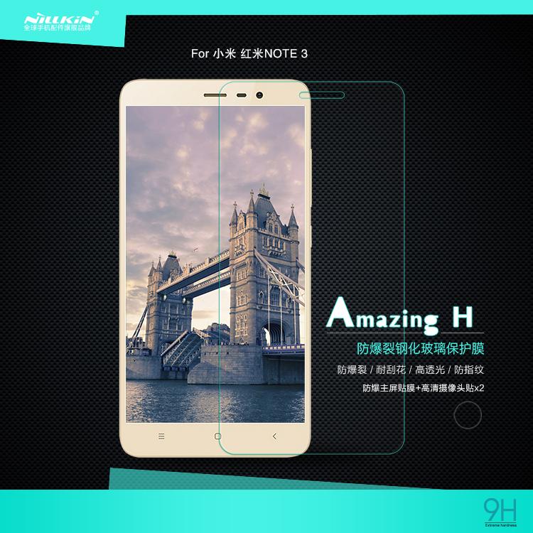 ฟิล์มกระจกนิรภัย Nillkin H สำหรับ Xiaomi Redmi Note 3