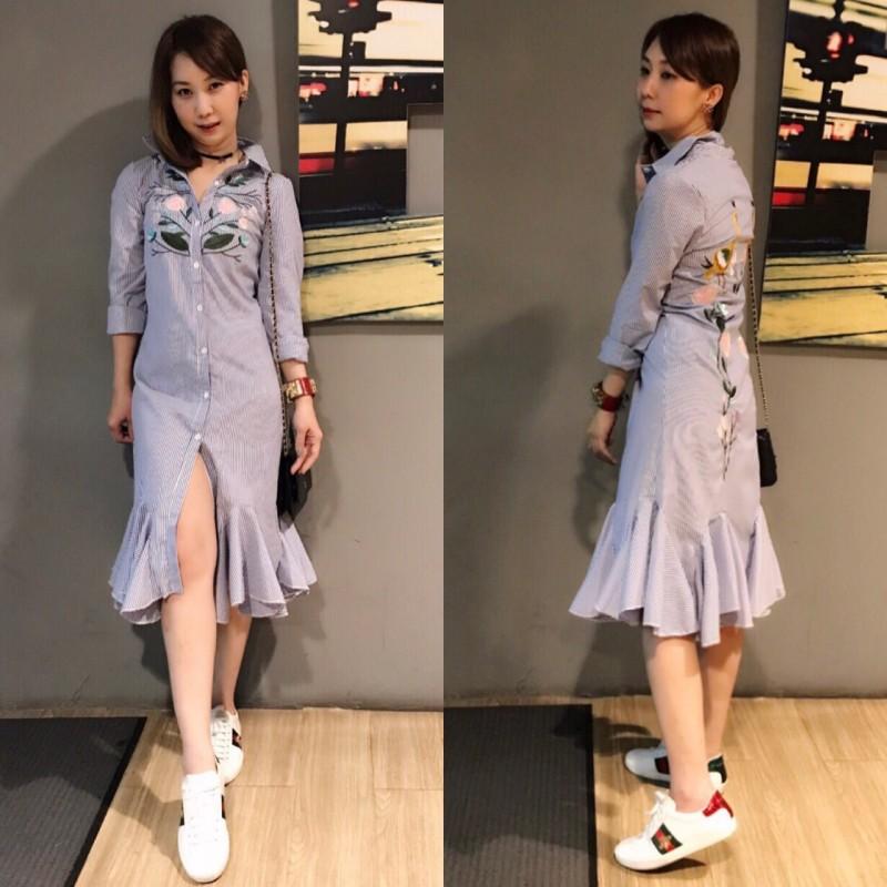 เสื้อผ้าแฟชั่นเกาหลี Normal Ally Present Embroider Secret gardens new S.P brand collection