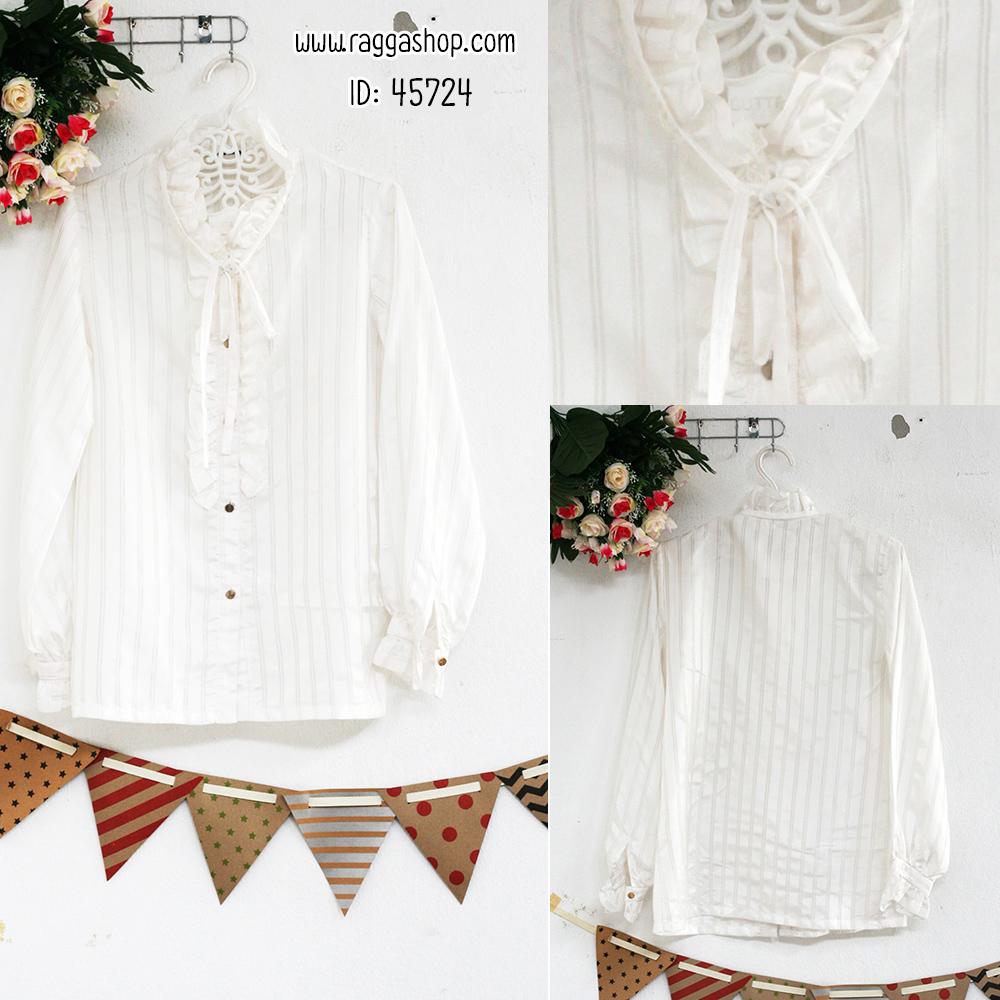 45724 อก36 เสื้อเชิ้ตสีขาว