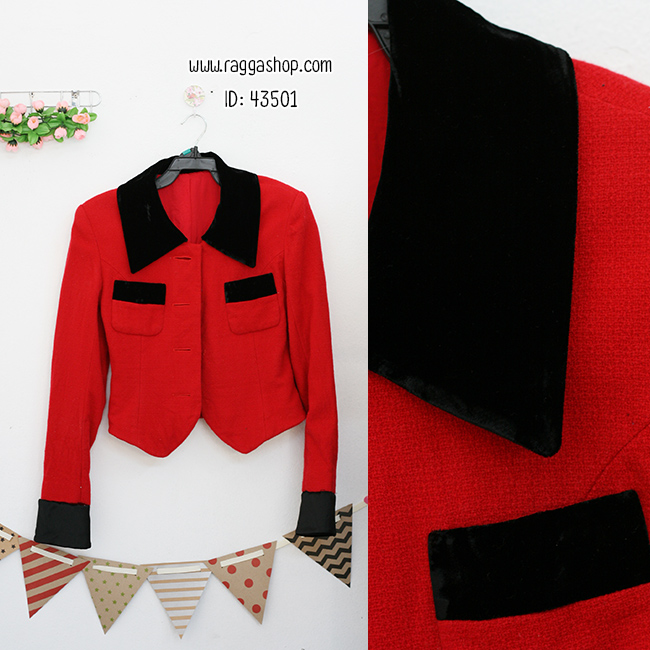 43501 size34 เสื้อสูทสีแดง