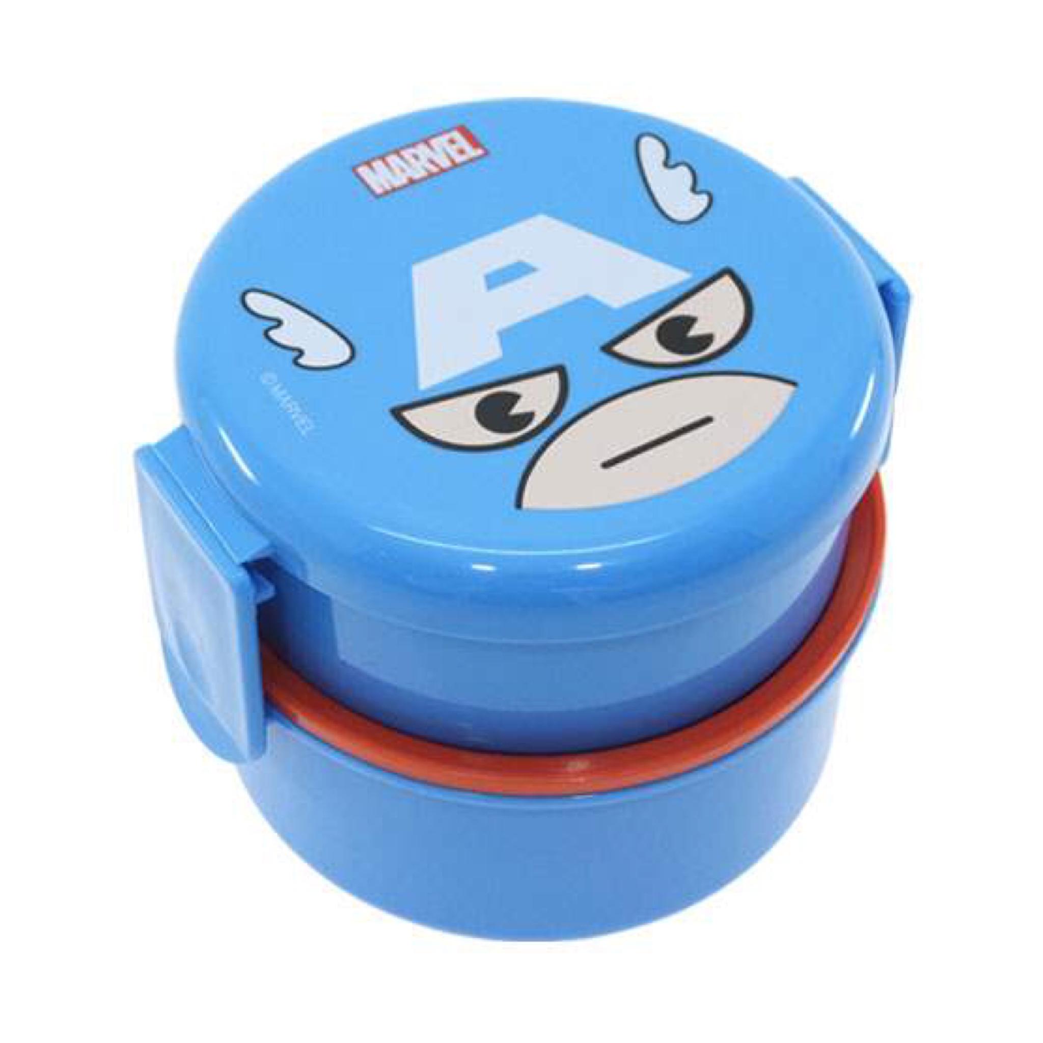 กล่องอาหารกลางวันและของว่าง Skater 2-Level Bento Lunch Box with Fork (Captain America)