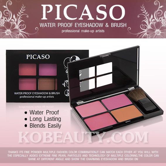 Picaso Water Proof Eyeshadow & Brush On / อายแชโดว และ ปัดแก้ม ปิคาโซ