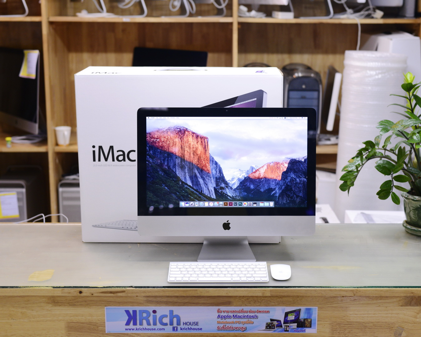 iMac (21.5-inch Mid 2011) Quad-Core i5 2.7GHz RAM 4GB HDD 1TB AMD Radeon HD 6770 512MB - Fullbox