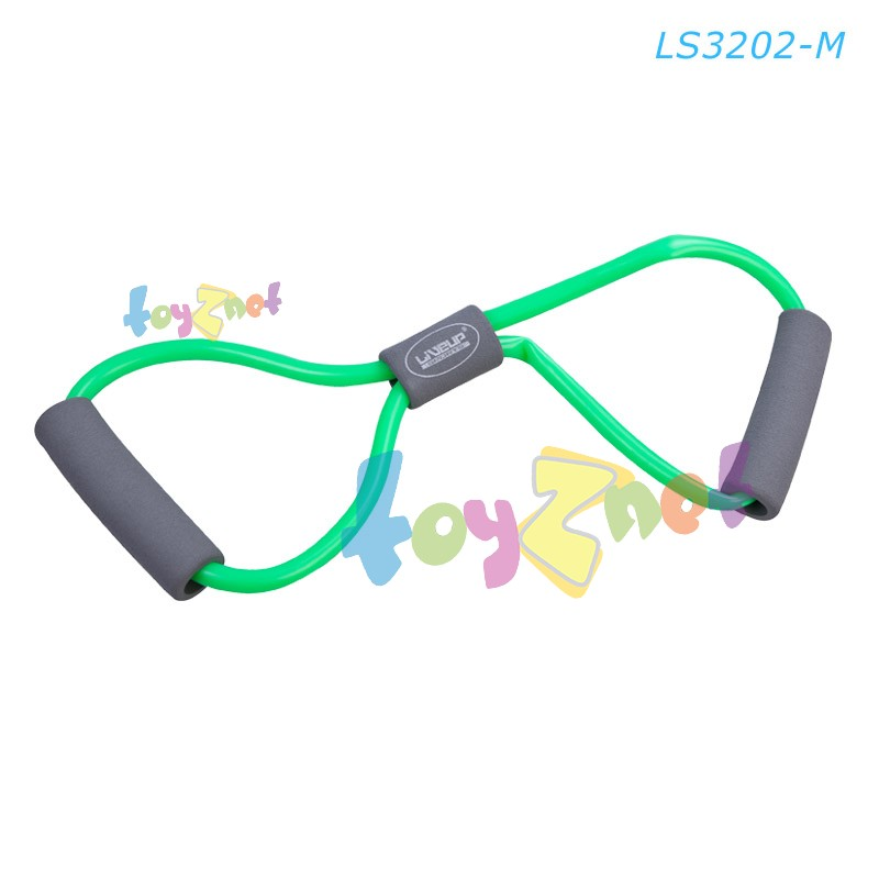 Liveup ยางยืดออกกำลังกาย ระดับกลาง (สีเขียว) รุ่น LS3202-M