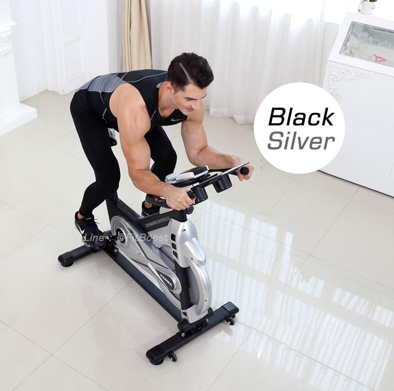 จักรยานออกกำลังกาย spinbike รุ่น SWAY สี Black Silver