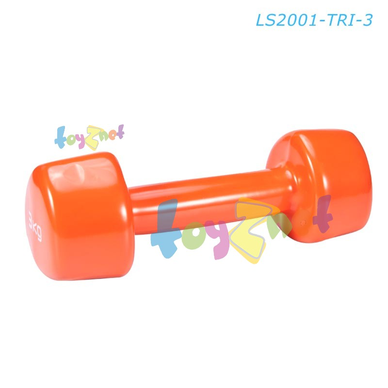 Liveup ดัมเบลล์ไวนิล สามเหลี่ยม 3 กก. รุ่น LS2001-TRI-3