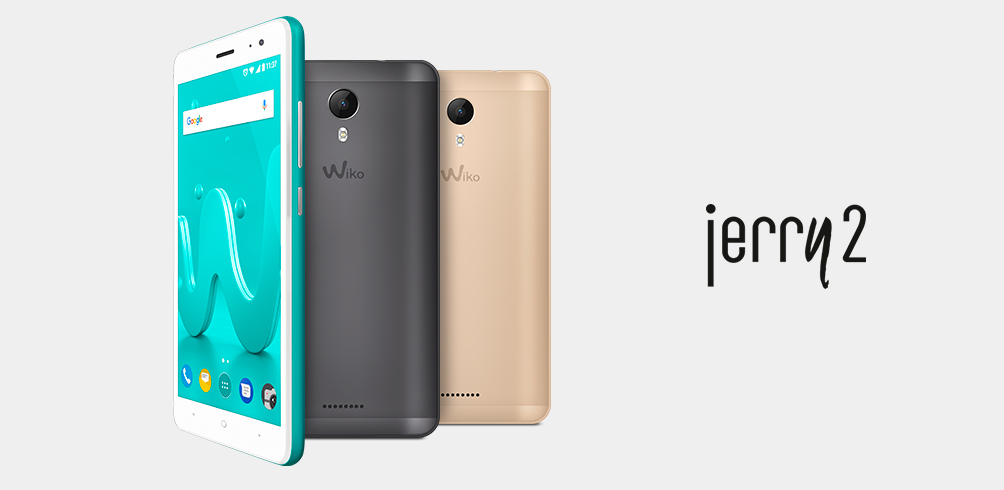 "WIKO JERRY2 5.0"" QC1.3 16+1GB 5+5MP(สี GREY,GOLD,BLEEN)"