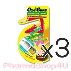 (ซื้อ3 ราคาพิเศษ) Oxe Cure Facial Acne Lotion 5 g. อ๊อกซี่ เคียว แอ๊คเน่ โลชั่น ขนาดบรรจุ 5 กรัม สิวแห้งเร็ว ซึมเร็ว ไม่ทิ่งร่องรอย ลดการอักเสบของสิว
