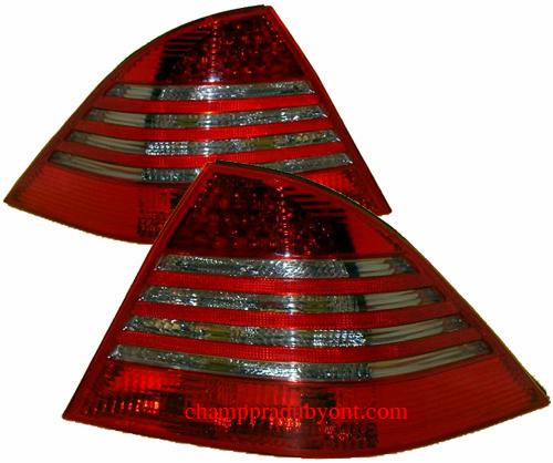 ไฟท้าย BENZ S-CLASS W220 98-05 SMOKE แดง LED