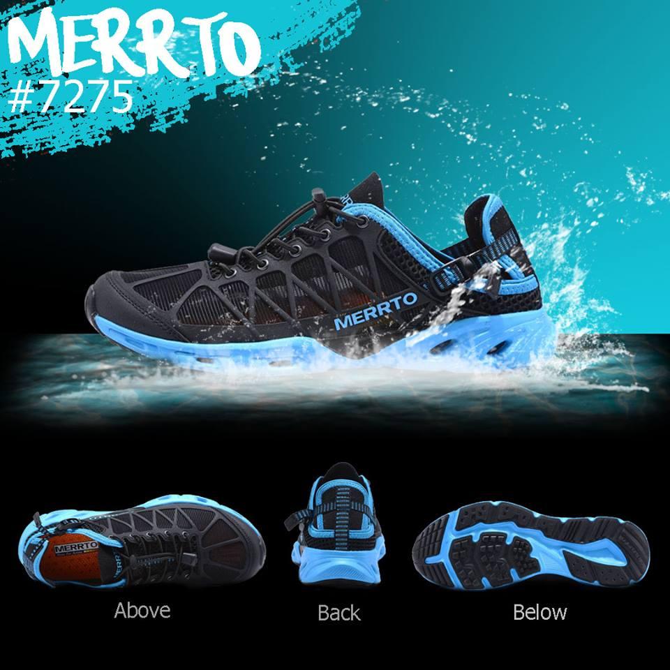 รองเท้า Merto 7225 สีดำ-ฟ้า