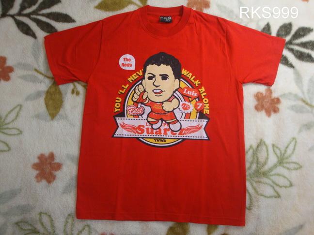 เสื้อยืดการ์ตูน ลาย SUAREZ สีแดง