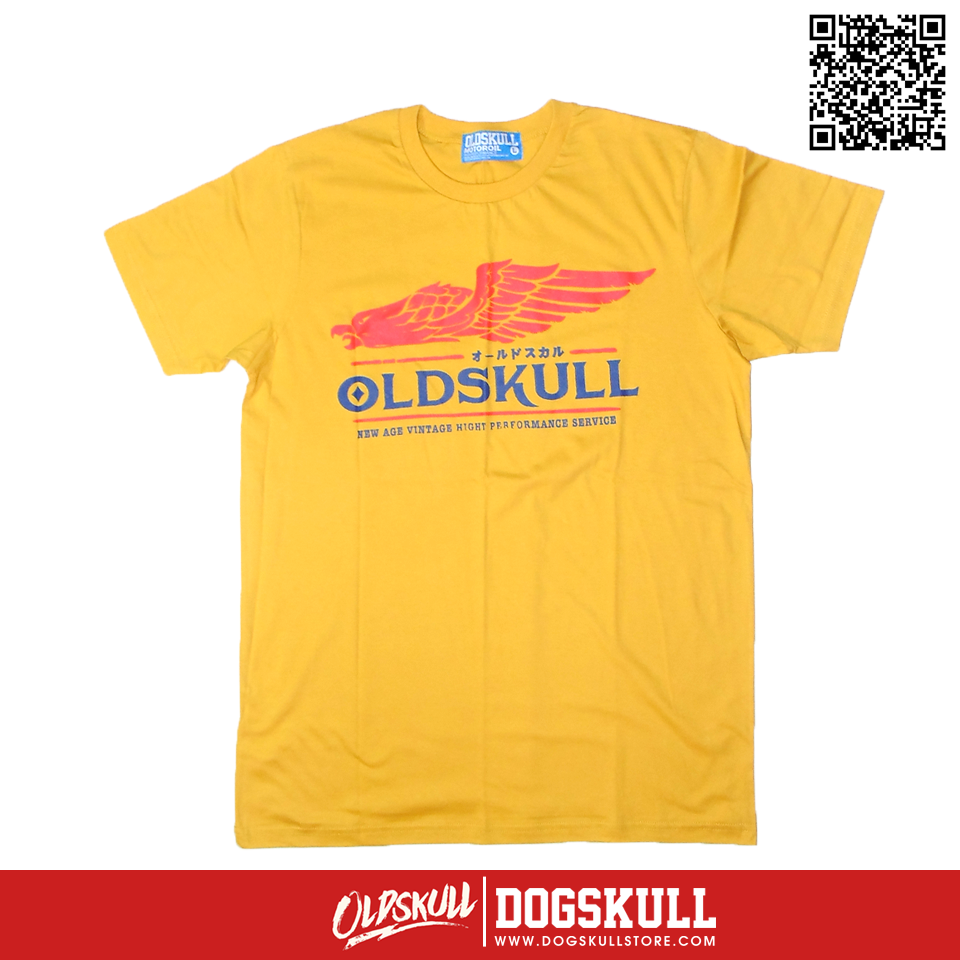 เสื้อยืด OLDSKULL: ULTIMATE | สีเหลือง