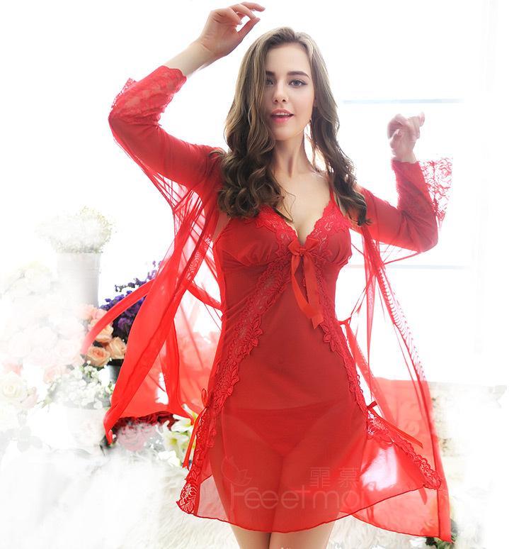 ชุดเซ็ตเสื้อคลุมสีแดง