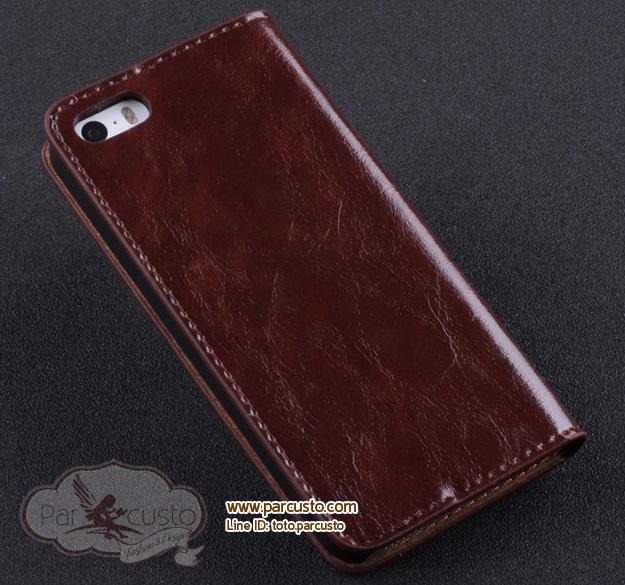 เคสหนังวัวแท้ Apple iPhone 5/5S จาก Weiao [หมด]