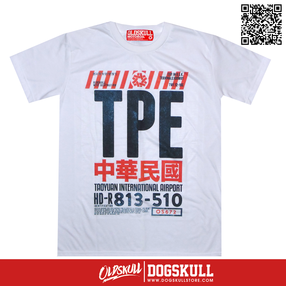 เสื้อยืด OLDSKULL : EXPRESS TICKET TO TPE | WHITE