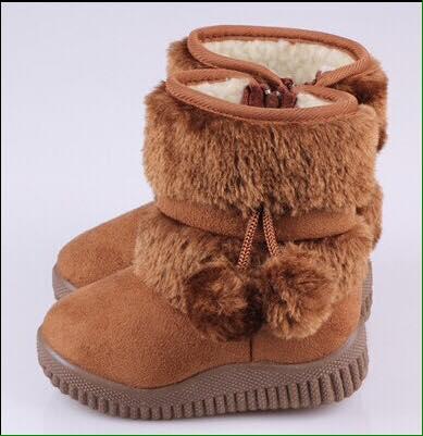 รองเท้าบู๊ท(เด็กโต) รุ่นลุยหิมะ พื้นยางหนา ด้านในนุ่มมาก
