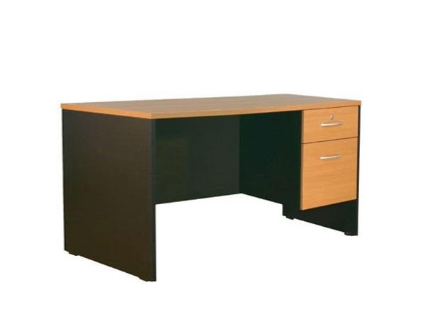โต๊ะทำงาน 1.50 ม. 2 ลิ้นชัก MDK-1502