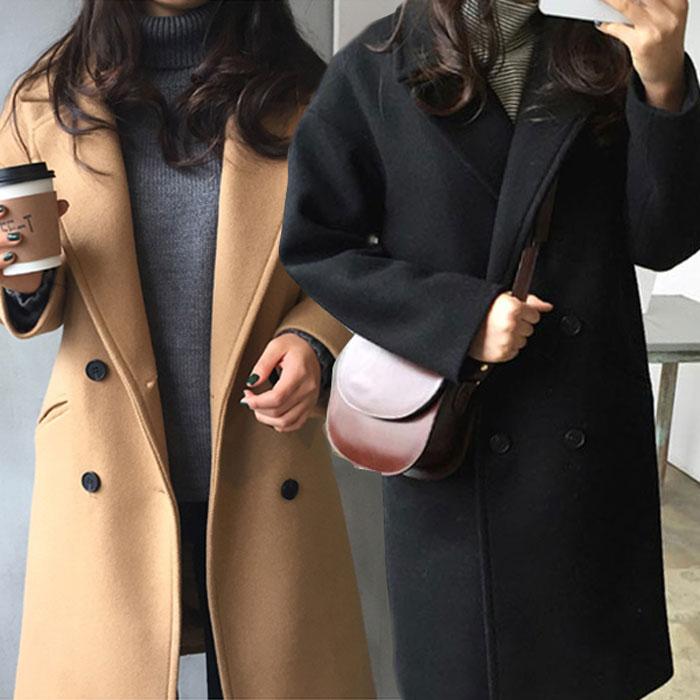 เสื้อโค้ทกันหนาวผู้หญิง สีน้ำตาล โค้ทยาว ซับในบุนุ่ม ใส่เที่ยวต่างประเทศ สวยๆ
