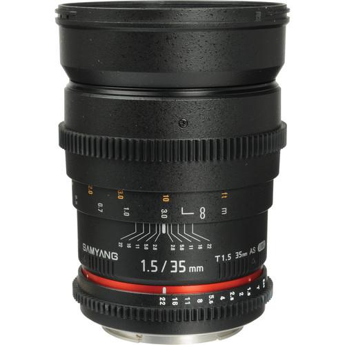 Samyang 35mm T1.5 Cine Lens for Canon EF เลนส์ถ่ายภาพยนตร์,หนัง