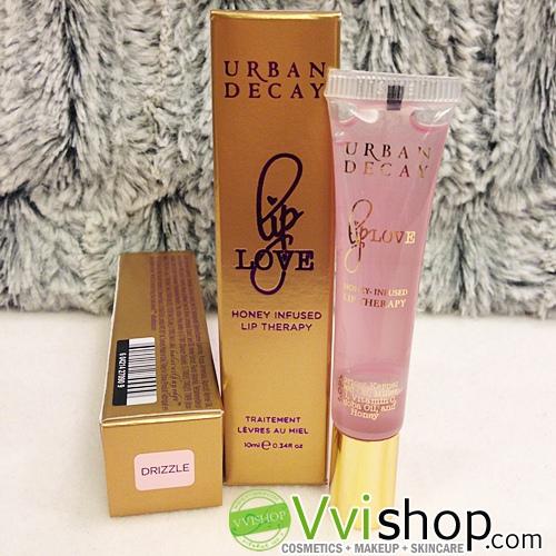 Urban Decay Lip Love Honey Infused Lip Therapy 10 ml # Drizzle สีใสอมชมพู ลิปกลอส บำรุงให้ปากนุ่ม ชุ่มชื่น จากน้ำผึ้ง