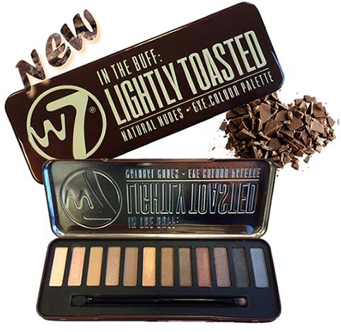 W7 Lightly Toasted Palette Eyeshadow (โทนสี ฝาแฝด Naked1)