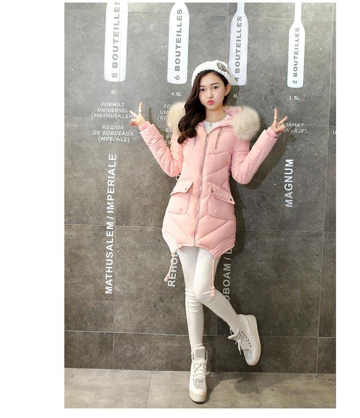 เสื้อกันหนาวผู้หญิงแฟชั่นเกาหลี สีดำ แจ็คเก็ตมีเฟอร์รอบฮู้ด ยาวคลุมสะโพก หนาวนี้ เอาอยู่