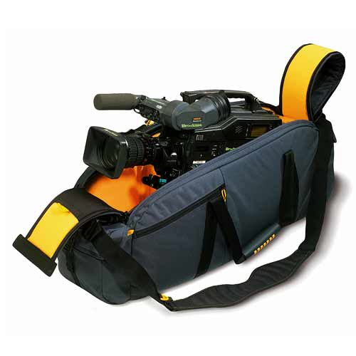 Kata CCC-1CAMCORDER CASE for full size professional camcorders with battery and lens installed.
