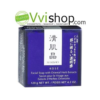 Kose Seikisho Facial Soap with Oriental Herb Extracts 120g with Case พร้อมกล่อง สบู่ดำโคเซ่อันเลืองชื่อ ทำความสะอาดผิวหน้า บำรุงให้ขาวใส *พร้อมส่ง*