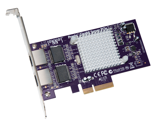 Presto Gigabit Ethernet Server 2-Port PCIe Card (Supports Jumbo Packets and Link Aggregation)