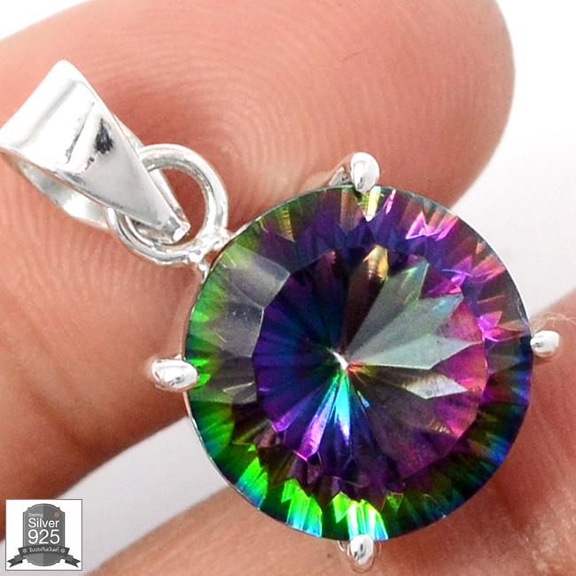 ▽จี้เงินแท้ 925 - Rainbow Topaz (4.2g)