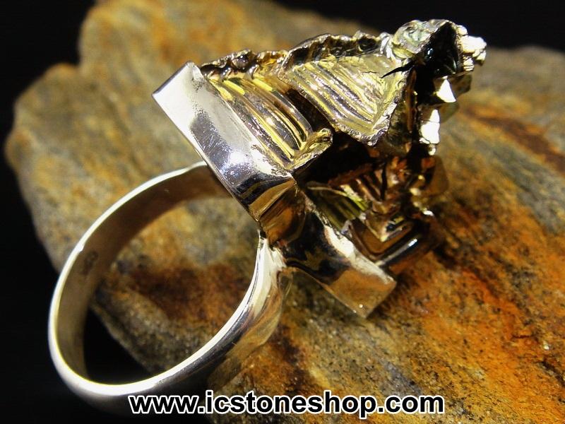 ▽บิสมัท Bismuth แหวนเงินแท้ 925 (แหวนเบอร์ : 55, 11.1 กรัม)
