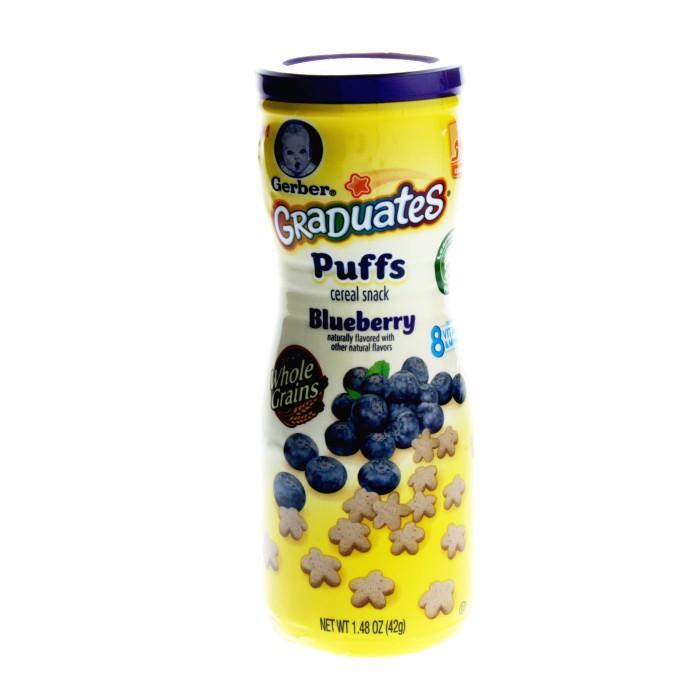 ขนมสำหรับเด็กGerber Graduates Puffs Cereal Snack,รสบลูเบอรี่ ++ พร้อมส่ง++