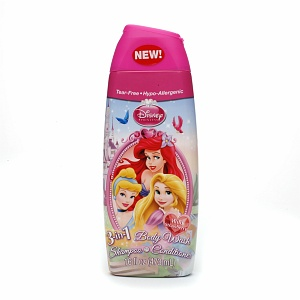 สบู่เด็กDisney Princess 3 in 1 Shampoo, Body Wash, Bubble Bath, Wild Berry