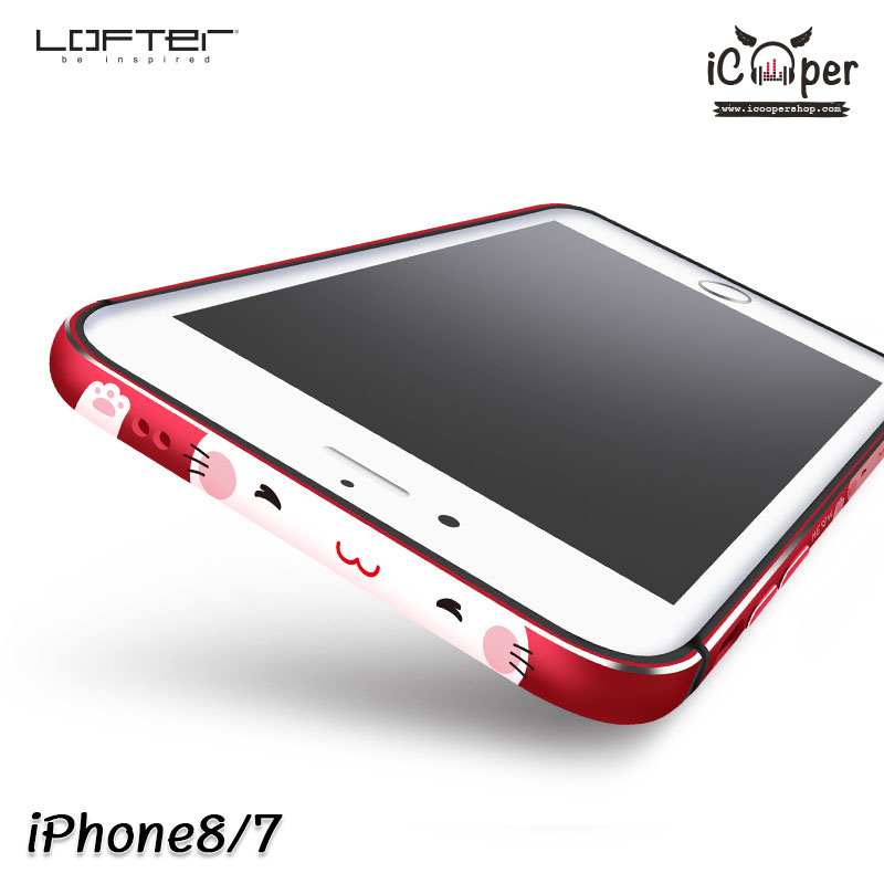 LOFTER Meow Bumper - Red (iPhone8/7)