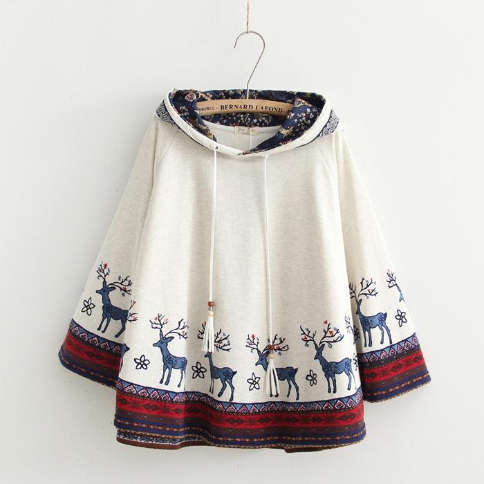 เสื้อคลุมปีกค้างคาว พิมพ์ลาย (มีให้เลือก 3 สี)