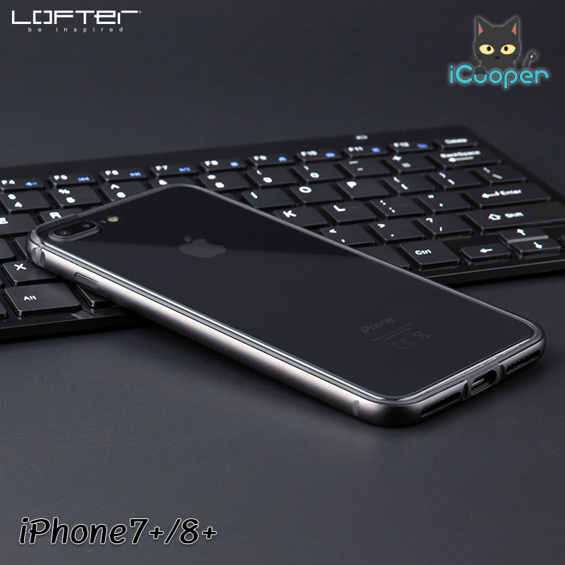 LOFTER Solid Color Bumper #2 - Space Gray (iPhone7+/8+)