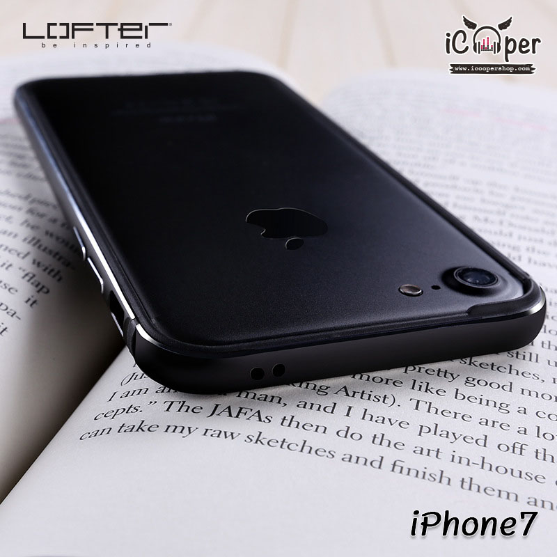LOFTER Solid Color Bumper - Black (iPhone7)
