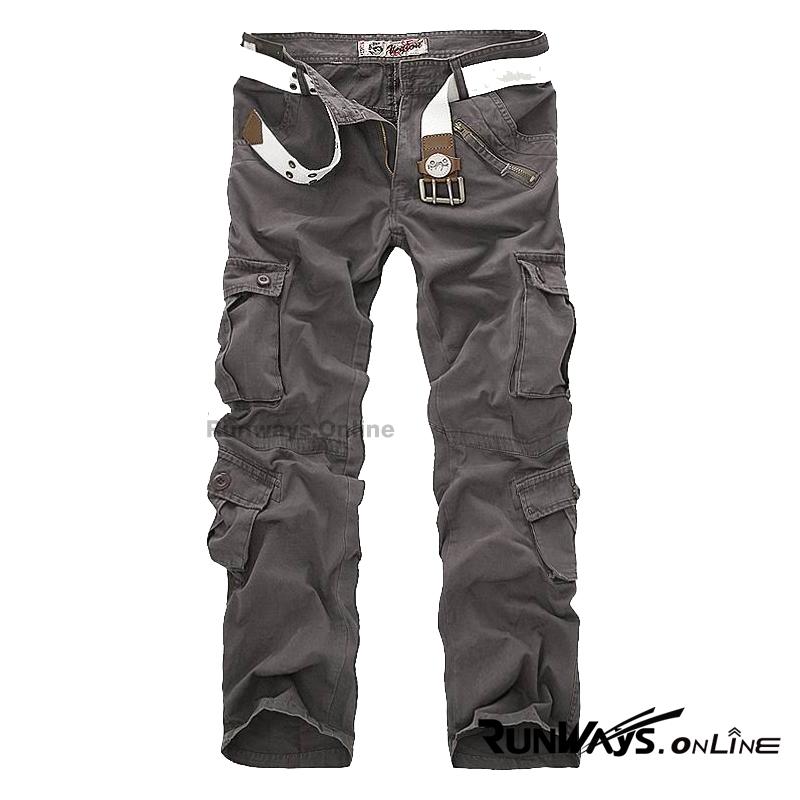 กางเกงคาร์โก้ Cargo Pants - สีเทา