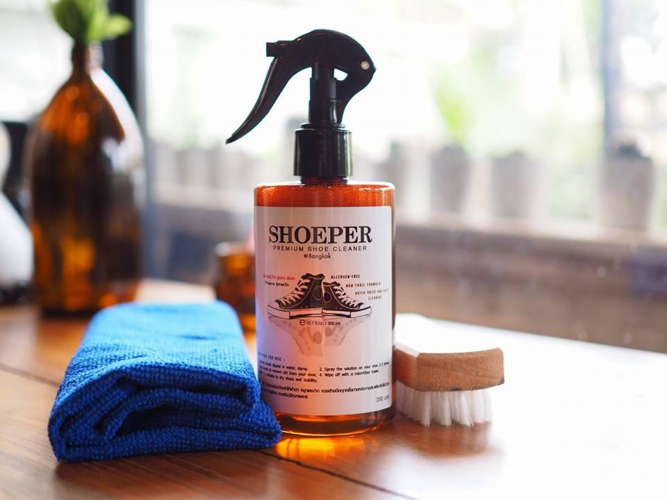 SHOEPER น้ำยาทำความสะอาดสำหรับรองเท้า**