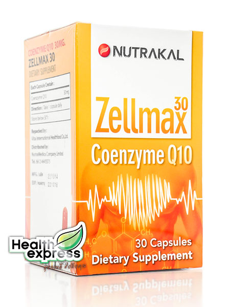 Nutrakal ZellmaxCoenzym- Q10 30 Caps เซลแม็กซ์ โคเอ็นไซม์ คิว 10