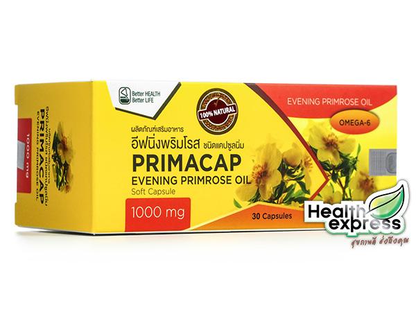 PrimaCap Evening Primrose Oil 1000 mg. พรีมาแคป อีฟนิ่ง พริมโรส ออยล์ บรรจุ 30 แคปซูล