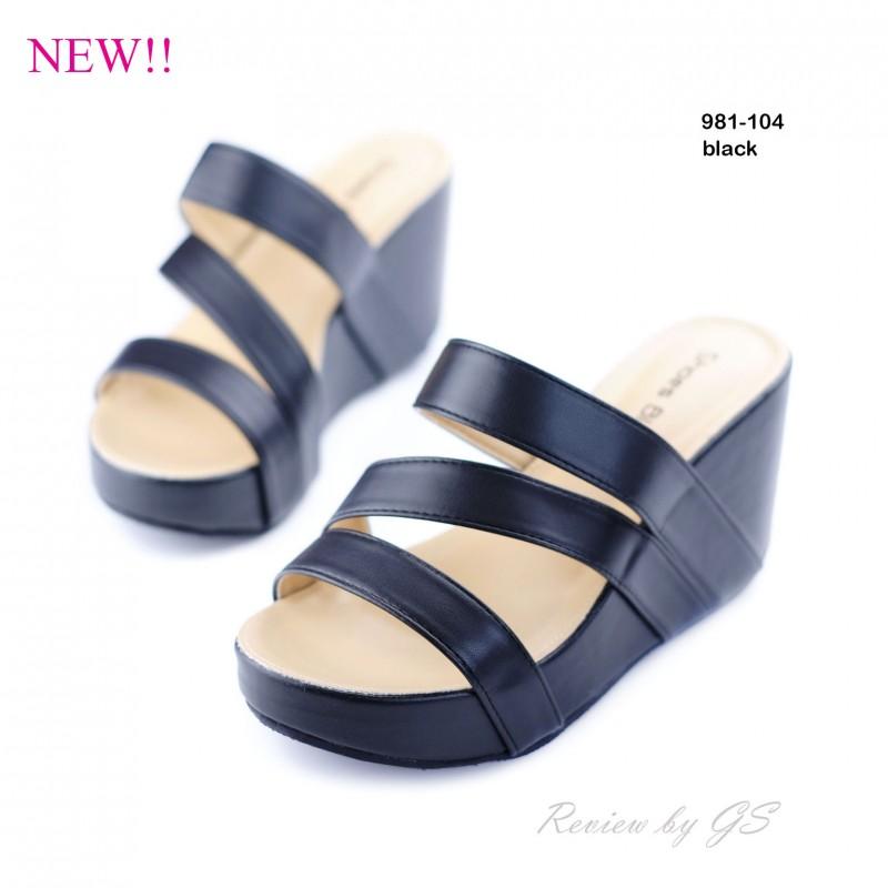 พร้อมส่ง รองเท้าลำลอง แบบสวม 981-104C3-BLK [สีดำ]