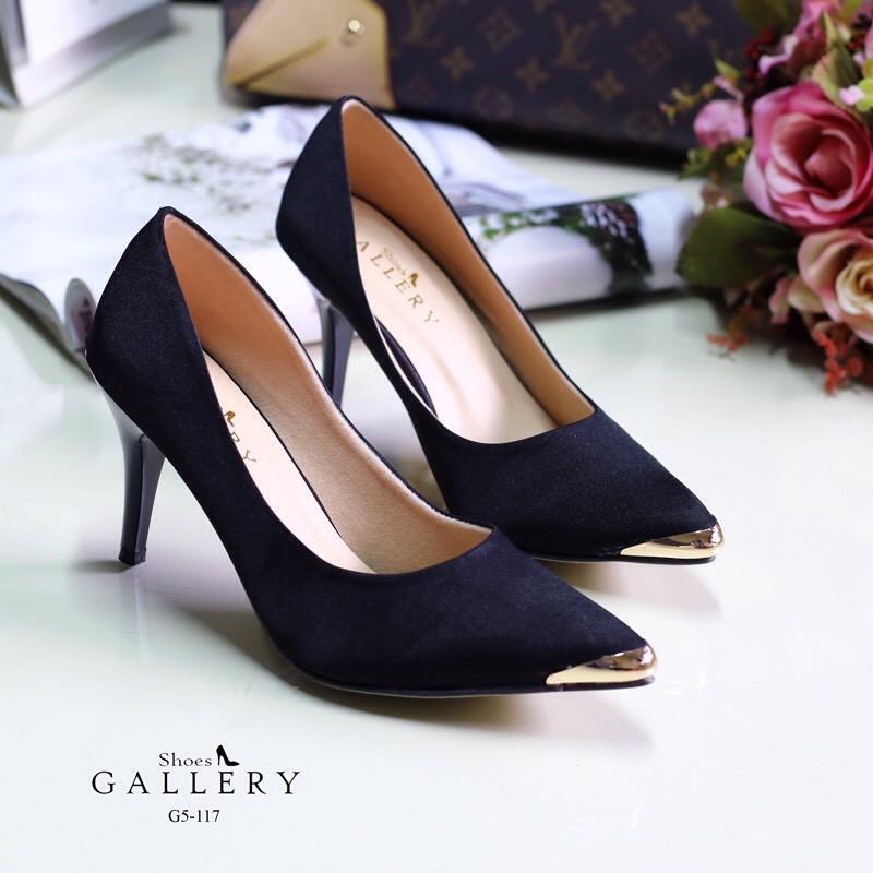 พร้อมส่ง รองเท้าคัชชูปิดหัว G5-117C5-BLK [สีดำ]